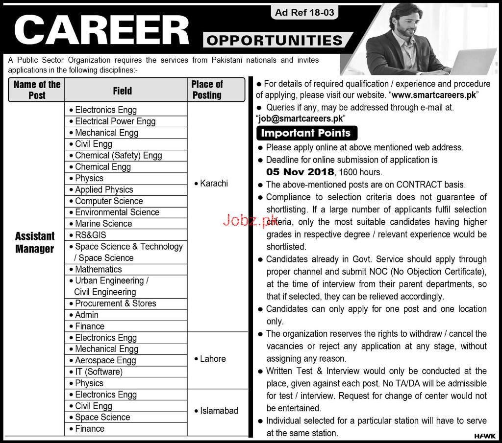 Public Sector Organization  Assistant Manager Jobs