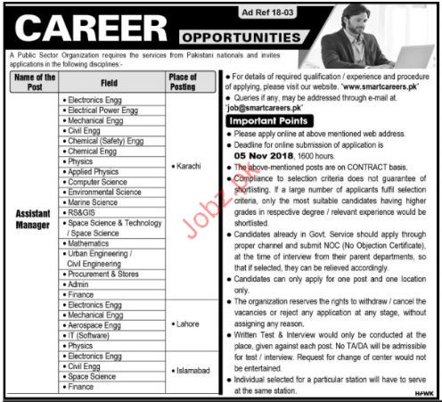 Assistant Manager Jobs in Public Sector Organization