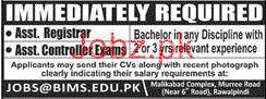Assistant Registrar and Assistant Controller Exams Jobs