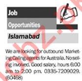 Marketing Calling Agents Jobs 2018 in Islamabad