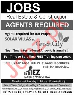 Real Estate Agents & Construction Agents Jobs 2018