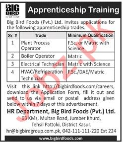Big Bird Foods Private Limited Plant Process Operator Jobs