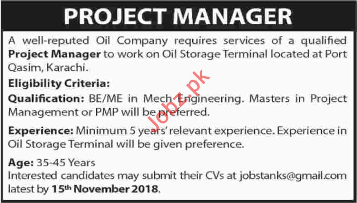 Project Manager for Oil Company