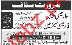 Surayya Azeem Teaching Hospital Lahore Jobs for Manager