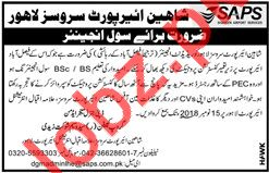 Shaheen Airport Services SAPS Lahore Jobs for Engineer