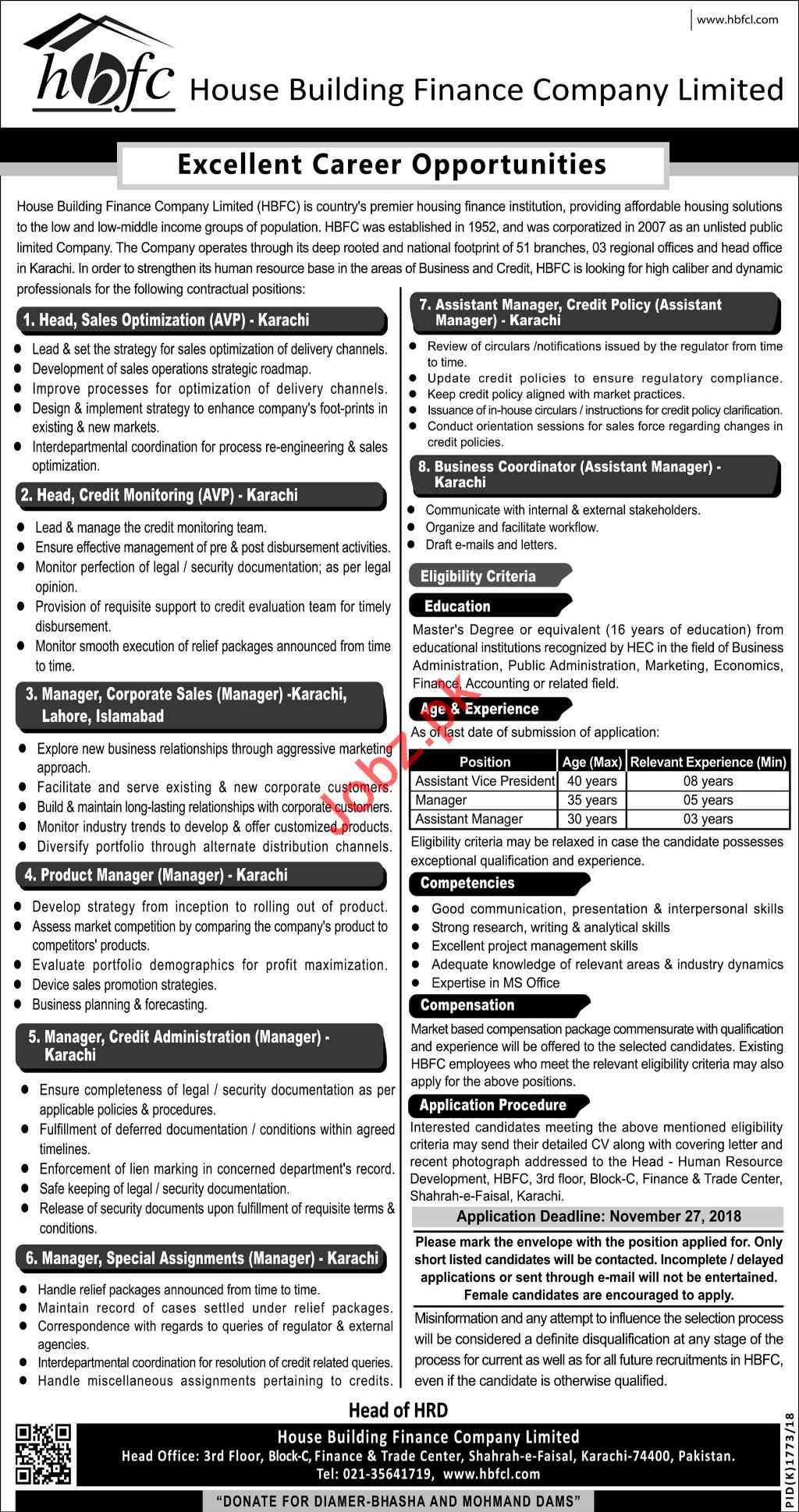 HBFCL House Building Finance Company Limited Jobs 2018