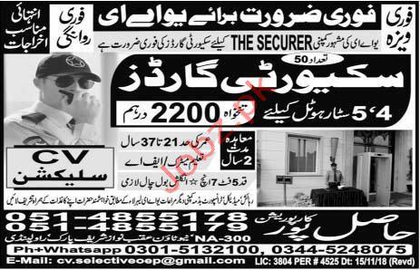 Security Guard Jobs 2018