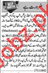 Factory Workers Jobs 2018 in Sheikhupura
