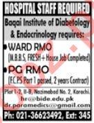 Baqai Institute of Diabetology & Endocrinology Medical Jobs