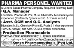 Quality Manager Jobs in Pharma Company