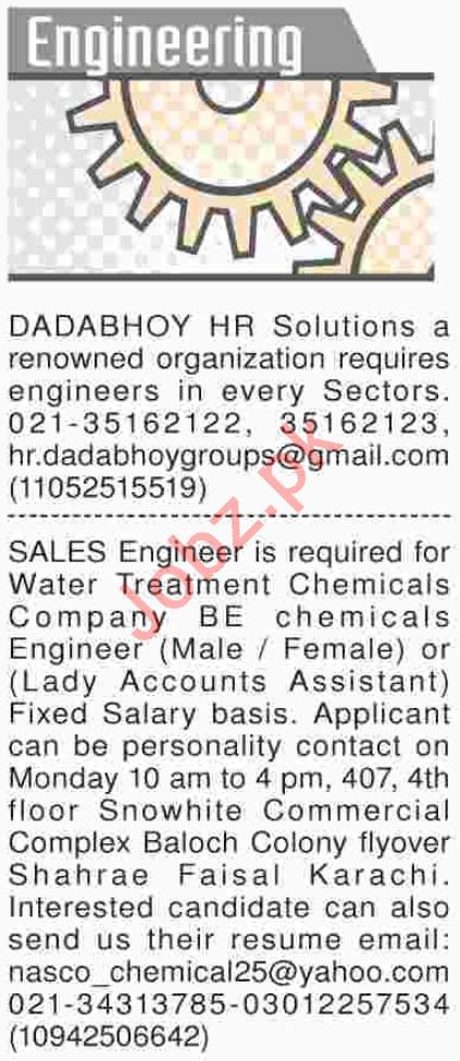Dawn Sunday Engineering Classified Ads 25/11/2018