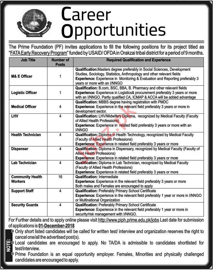 Monitoring & Evaluation Officer Jobs in The Prime Foundation