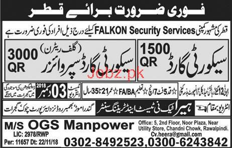 Security Guards and Security Supervisors Job Opportunity