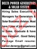 Sales Executive Jobs at Delta Power Generators