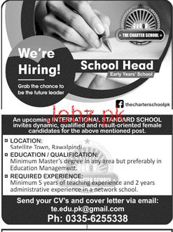 School Head Job in School