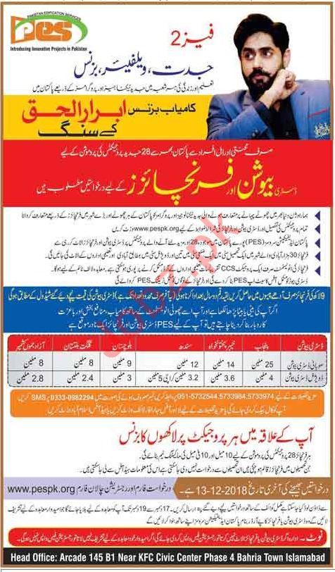 Pakistan Edification Services PES Islamabad NGO Jobs 2019