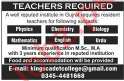 Kings Cadet College Gujrat Jobs 2019 for Teachers