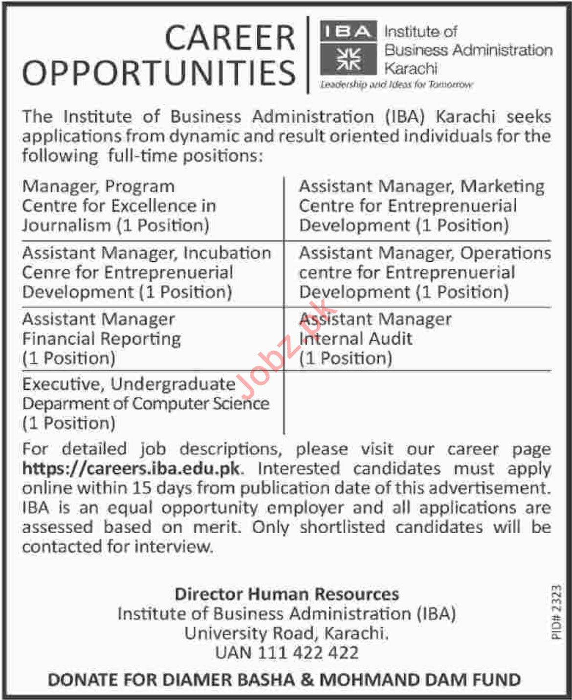 Assistant Manager Financial Reporting Jobs at IBA