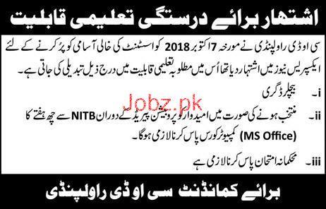 Assistant Job in COD Rawalpindi