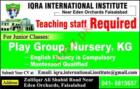 Teaching Jobs in Iqra International Institute