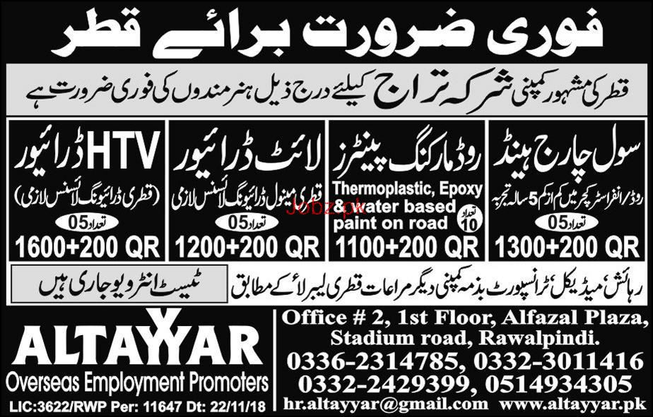 Civil Charge Hand, LTV Driver, LTV Driver Job Opportunity