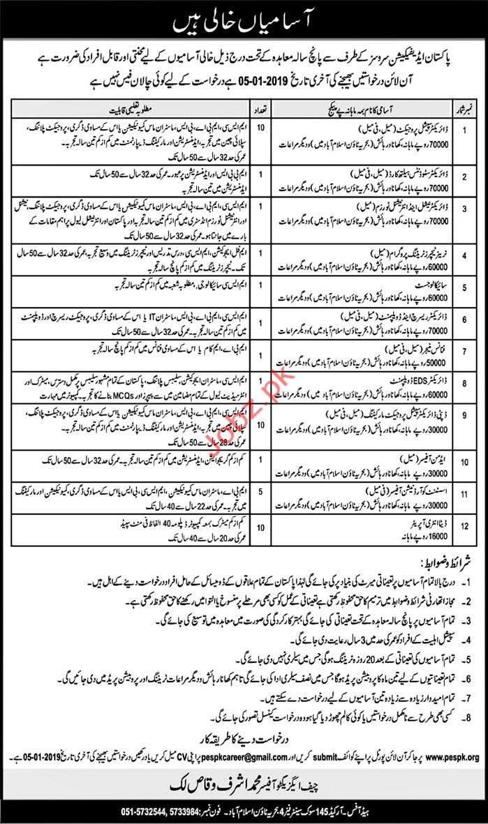 Pakistan Edification Services Director Special Project Jobs