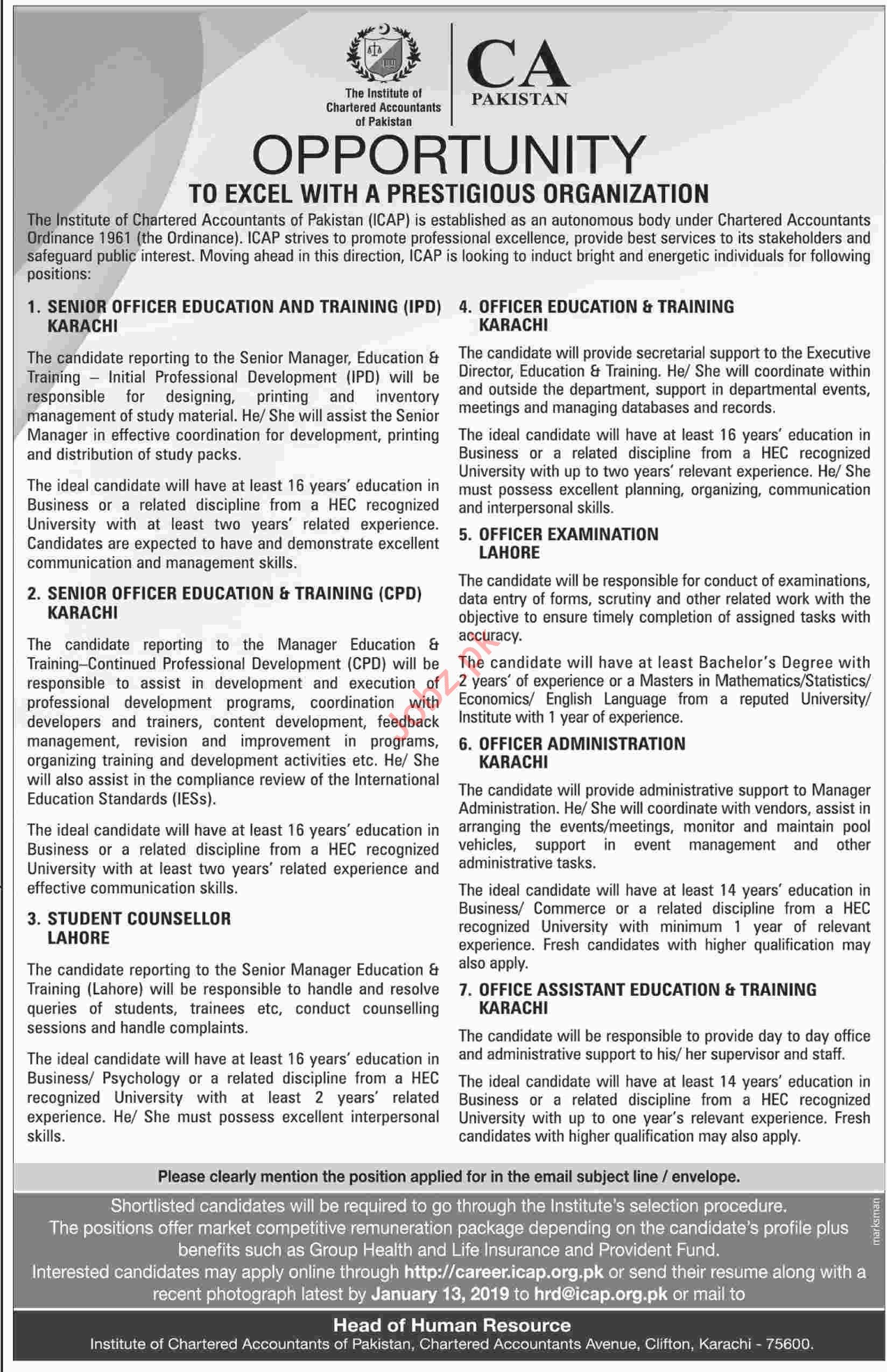 Senior Officer Education and Training Jobs at ICAP