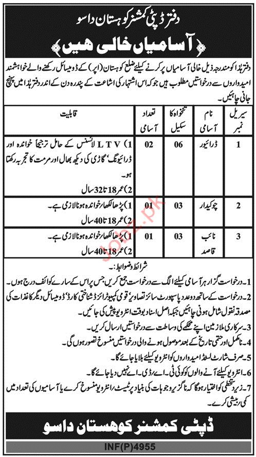 Deputy Commissioner Office Driving Jobs 2019