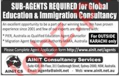 AINIT Consultancy Services Pvt Ltd Sub Agents Jobs