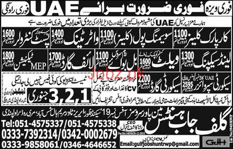 Technician, Cleaner, Security Guards Job Opportunity