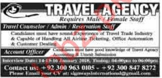 Travel Counselor, Admin & Reservation Staff Jobs 2019
