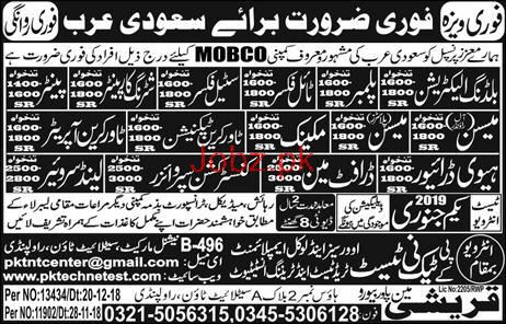Electrician, Technician, HTV Driver, Supervisor Wanted