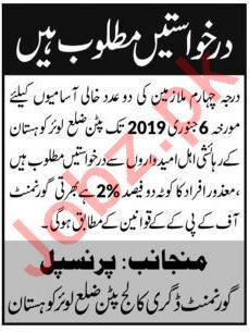 Labor Jobs at Degree College Kohistan