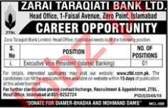 Executive Vice President Islamic Banking Jobs at ZTBL