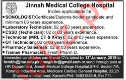 Sonologist Jobs at Jinnah Medical College Hospital