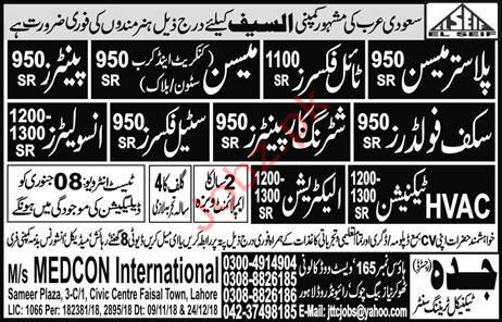 Plaster Mason Jobs in Saudi Arabia