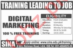 Sina Institute of Networks and Aesthetics Marketing Jobs