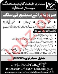 Multi Professionals Cooperative Housing Society Jobs
