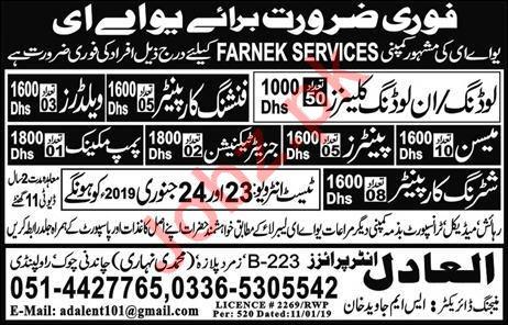 Farnek Services Company Jobs 2019 in UAE
