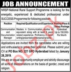 National Rural Support Programme NRSP NGO Jobs 2019