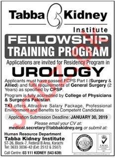 Tabba Kidney Institute Fellowship Training Program