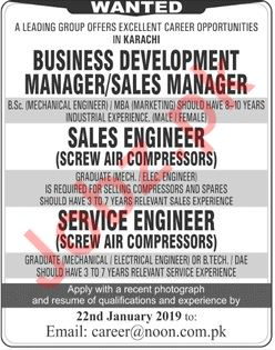 Business Development Manager Jobs at Noon International Ltd