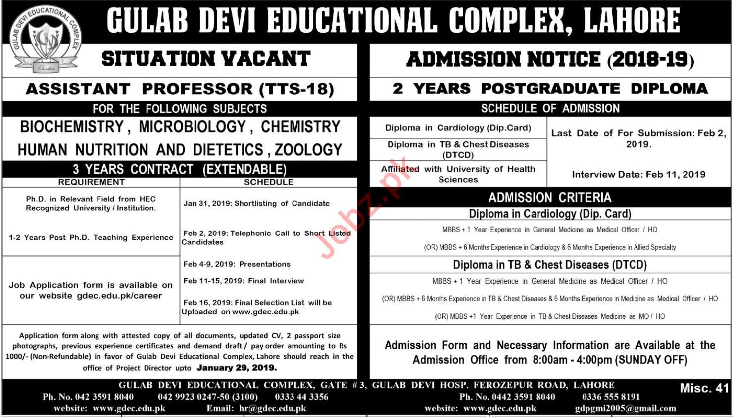 Gulab Devi Educational Complex Assistant Professor Jobs