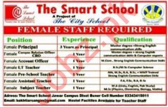 The Smart School Jobs 2019 In Buner KPK