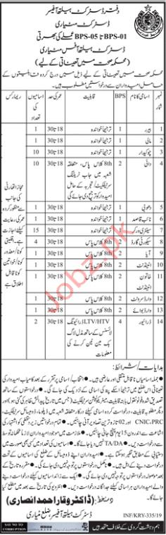 Disrict Health Office Clerical Jobs 2019