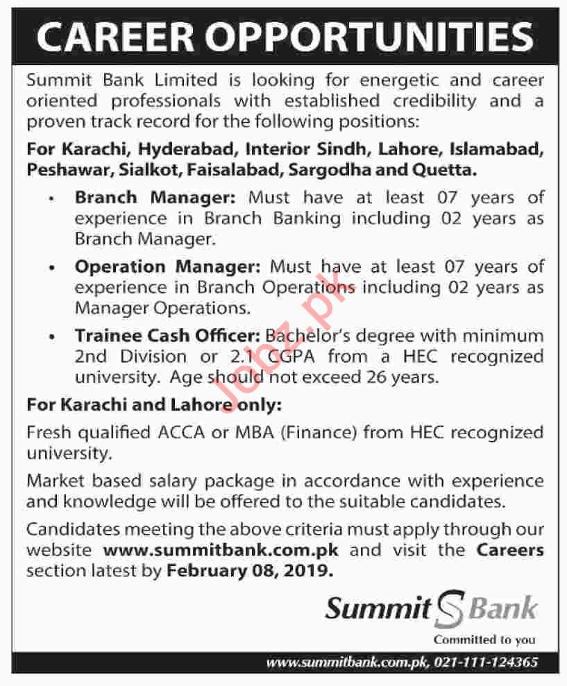 Branch Manager Jobs at Summit Bank