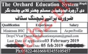Orchard School System Muzaffarabad Jobs 2019 for Teachers