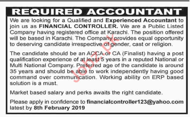 Accountant Jobs at Private Company