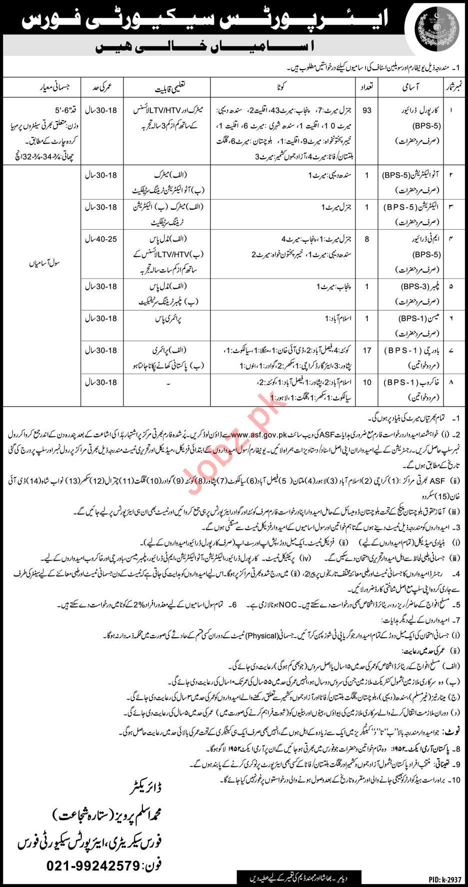 Airport Security Force ASF Job Opportunities 2019