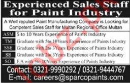 Sales Jobs 2019 For Paint Industry in Multan